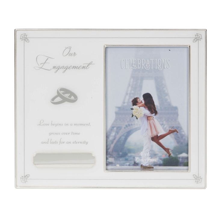"4"" x 6"" - Our Engagement Photo Frame with Engraving Plate product image"