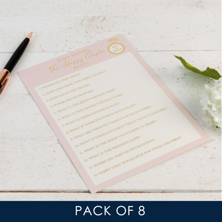 AMORE BY JULIANA® Bridal Shower Games - The Happy Couple product image