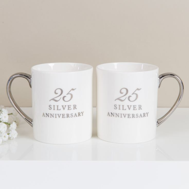 AMORE BY JULIANA® Set of 2 China Mugs - 25th Anniversary product image