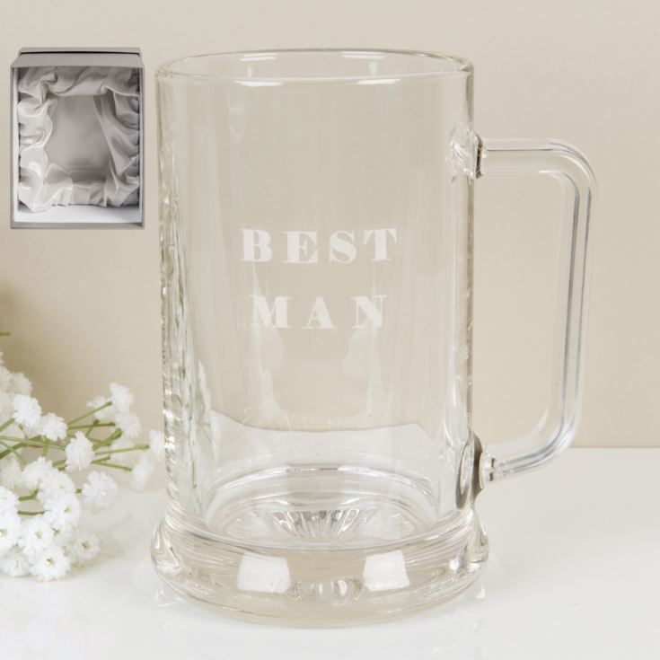 AMORE BY JULIANA® Glass Tankard - Best Man product image