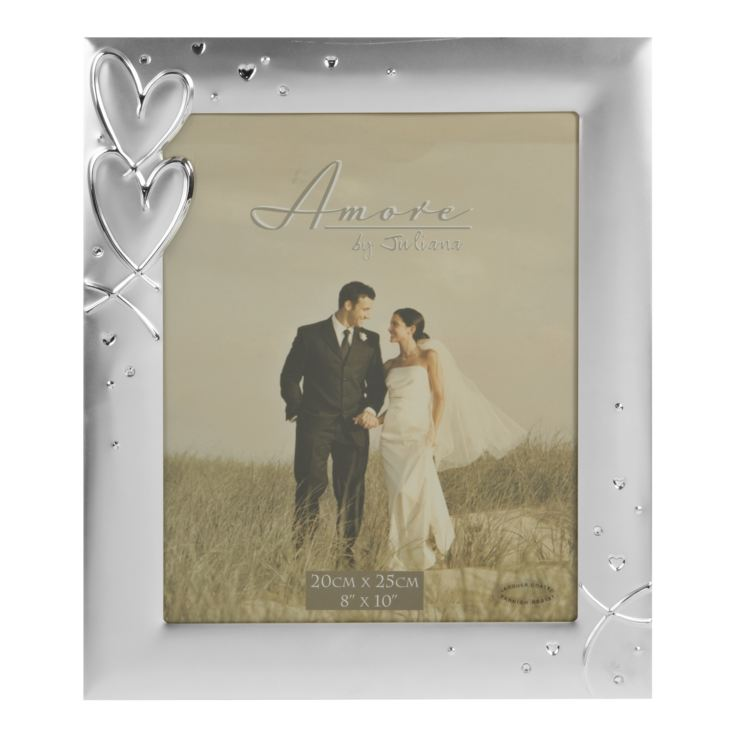 "4"" x 6"" - AMORE BY JULIANA® Silver Plated Photo Frame product image"