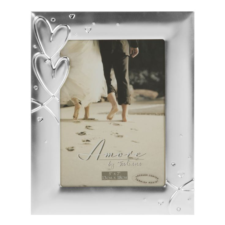 "5"" x 7"" - AMORE BY JULIANA® Silverplated Photo Frame product image"
