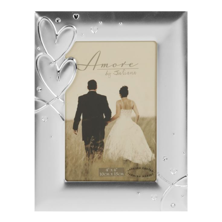 "8"" x 10"" - AMORE BY JULIANA® Silver Plated Photo Frame product image"