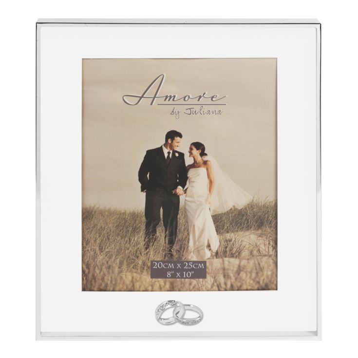 "8"" x 10""- AMORE BY JULIANA® Silver Plated Wedding Photo Fram product image"