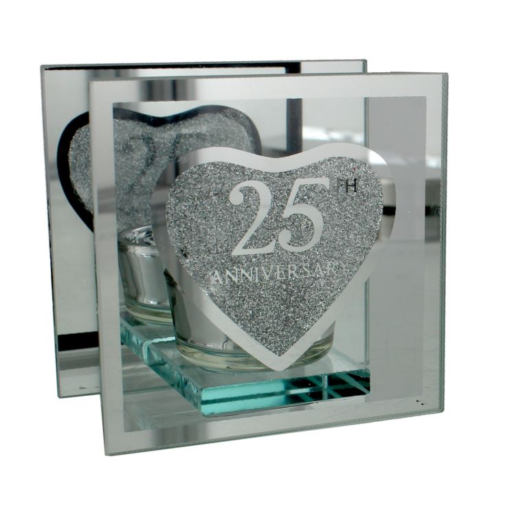 Glass Tealight Holder - 25th Anniversary product image