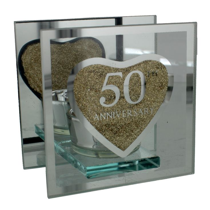 Glass Tealight Holder - 50th Anniversary product image