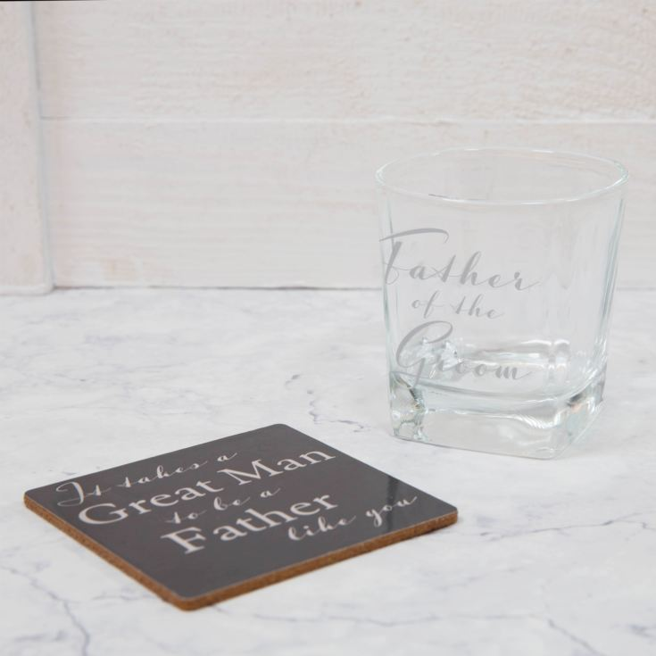 Amore Father of the Groom Whisky Glass & Coaster product image