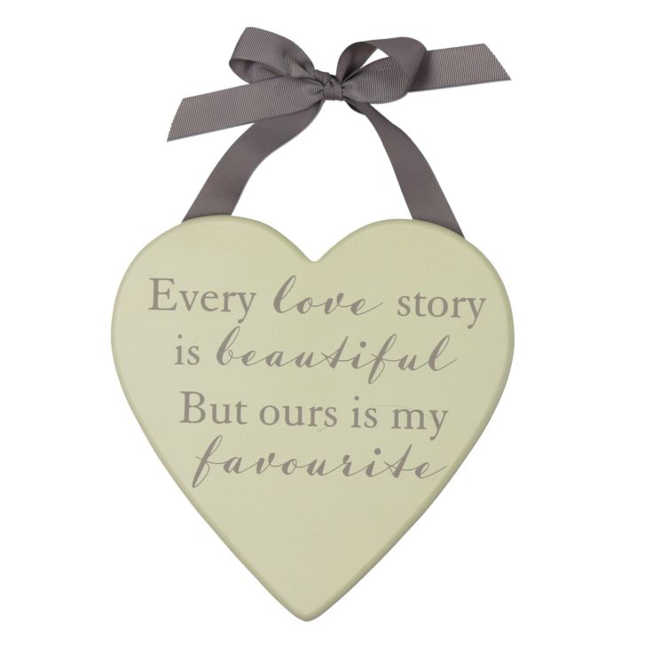 AMORE BY JULIANA® Heart Plaque - Every Love Story product image