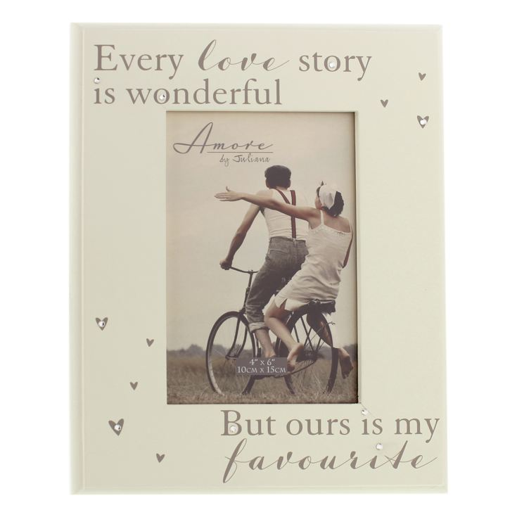 "4"" x 6"" - AMORE BY JULIANA® Every Love Story Photo Frame product image"