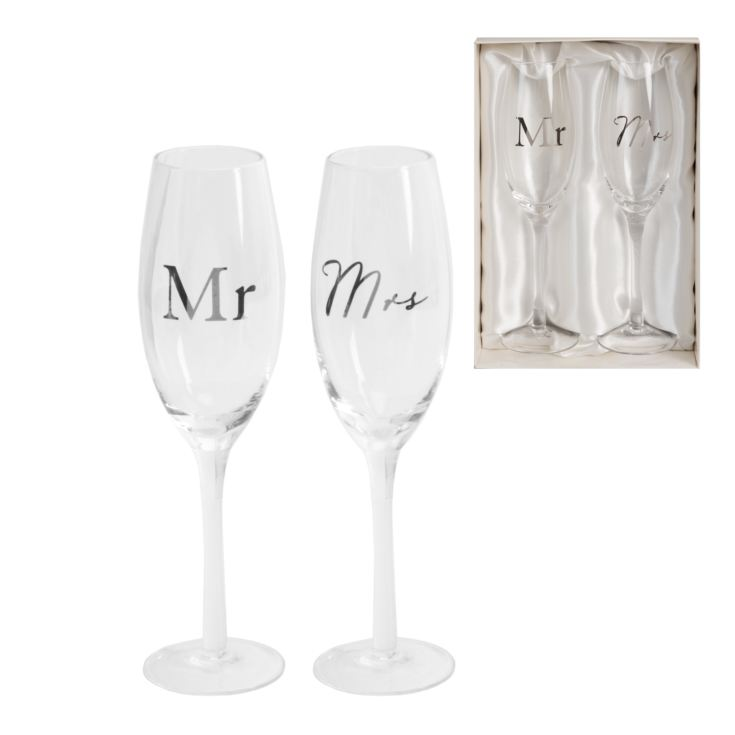 AMORE BY JULIANA® Champagne Flute Set - Mr & Mrs product image