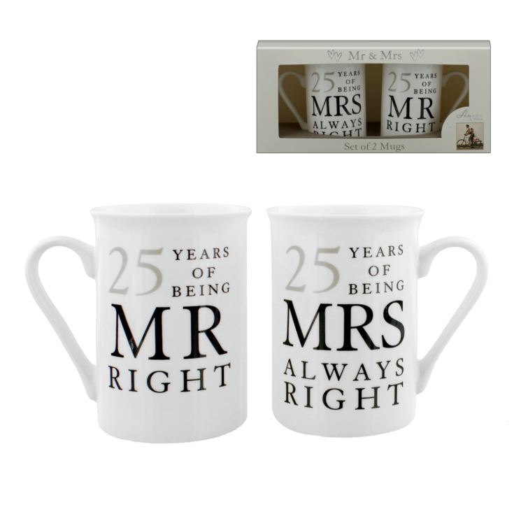AMORE BY JULIANA® Mr & Mrs Mug Set - 25 Years product image