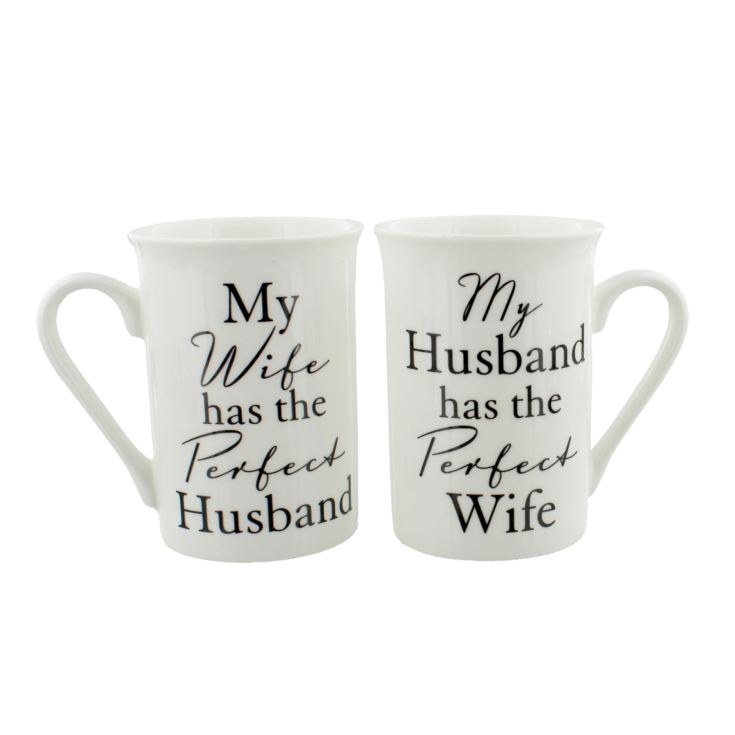 Amore Ceramic Mug Gift Set - Perfect Husband & Wife product image