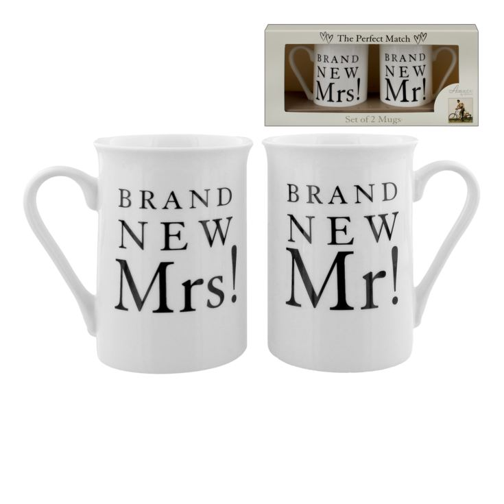 AMORE BY JULIANA® Mug Gift Set - Brand New Mr & Mrs product image