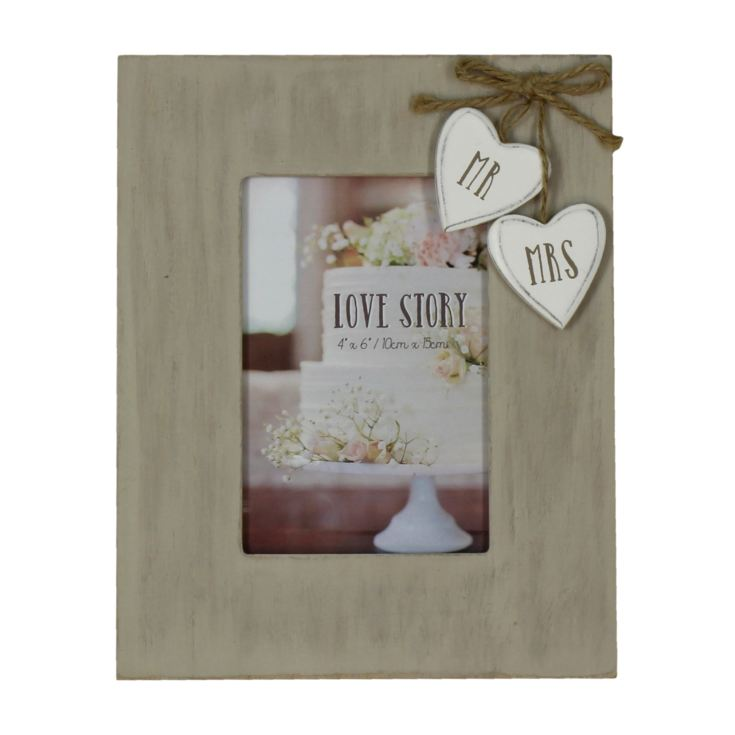 "4"" x 6"" - Love Story Photo Frame - Mr & Mrs product image"