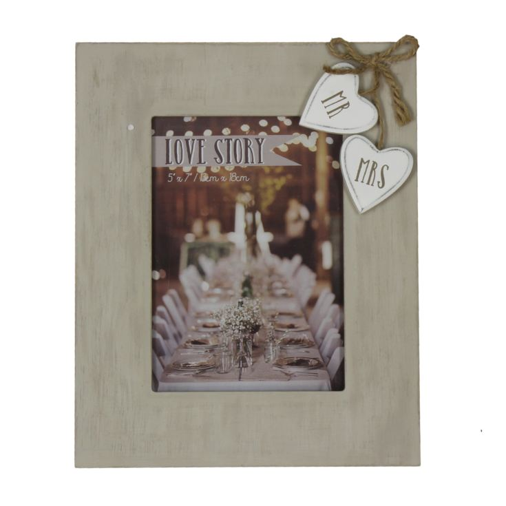 "5"" x 7"" - Love Story Photo Frame - Mr & Mrs product image"