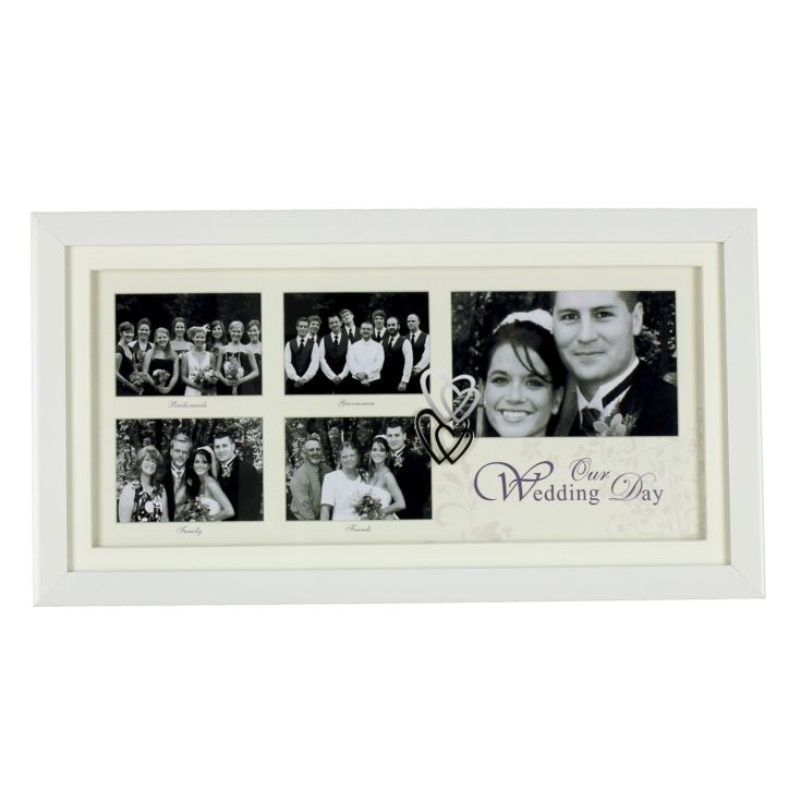 White Double Collage Frame - Wedding Day product image
