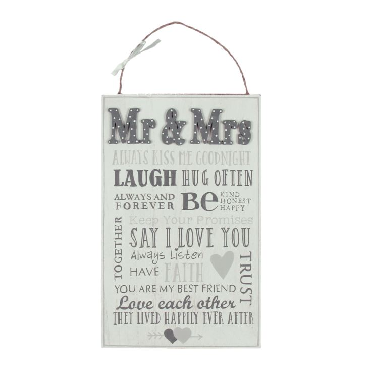 Love Story Hanging Plaque - Mr & Mrs product image
