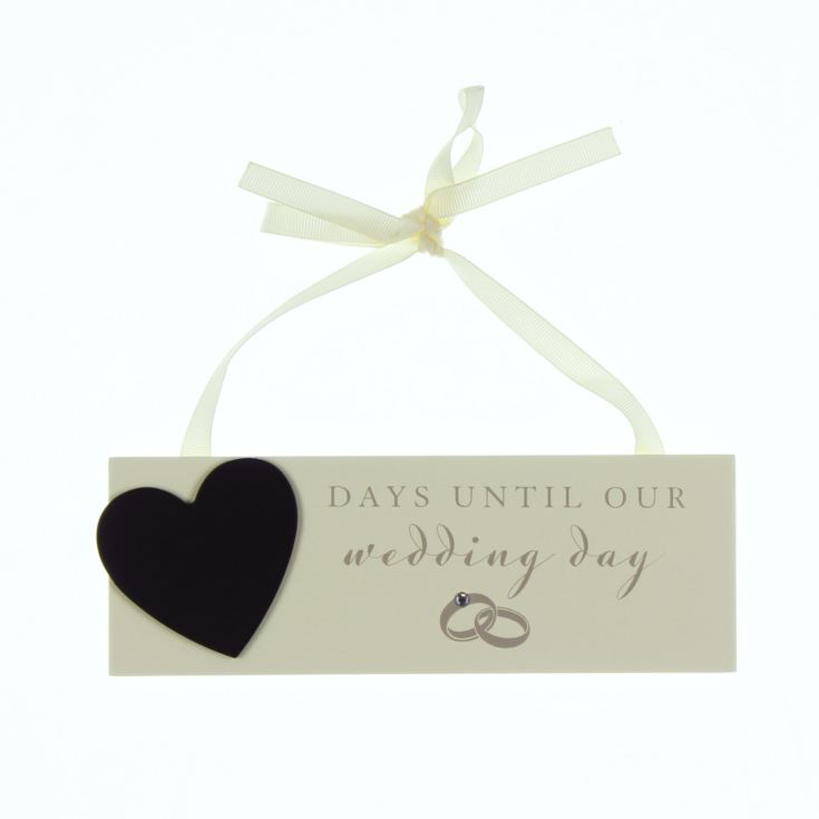 Amore Countdown to Wedding Plaque with Chalk product image