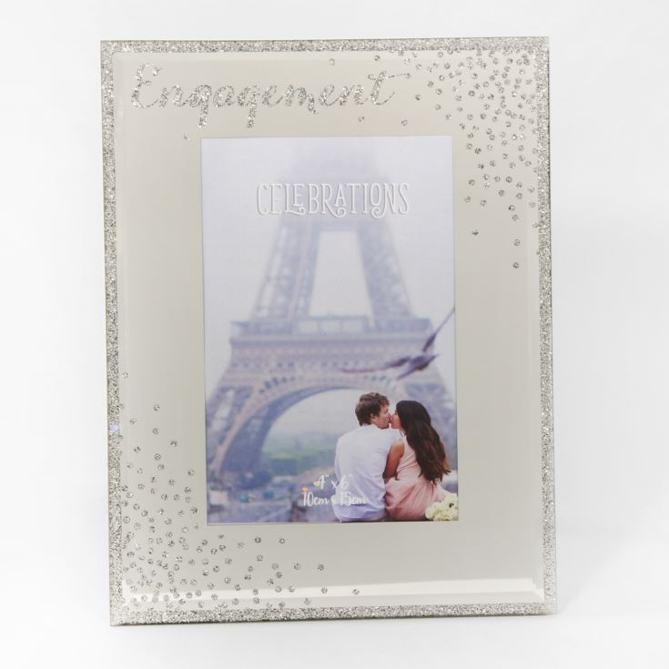 "4"" x 6"" - Celebrations Glass Sparkle Frame - Engagement product image"