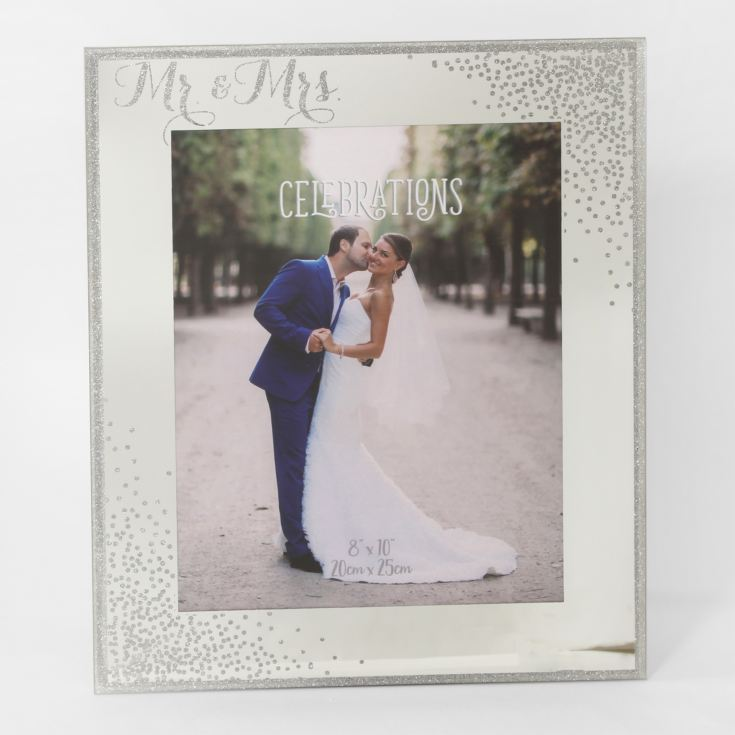 "8"" x 10"" - Celebrations Glass Sparkle Frame - Mr & Mrs product image"