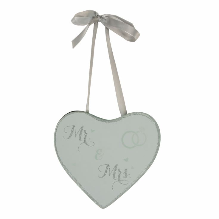 Celebrations Mr & Mrs Sparkle Heart Shaped Plaque product image