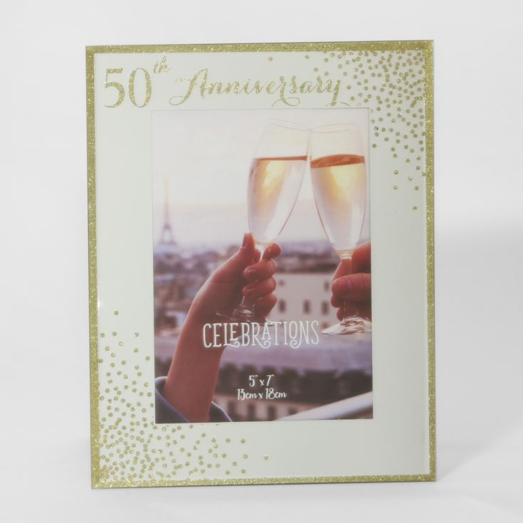 "5"" x 7"" - Celebrations Sparkle Frame - 50th Anniversary product image"