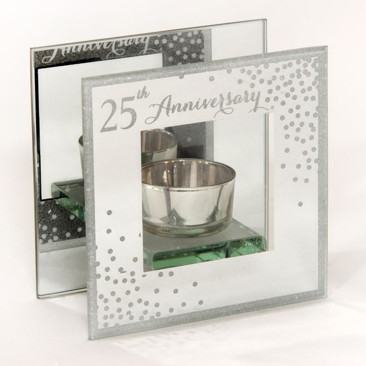 Celebrations Sparkle Tealight Holder - 25th Anniversary product image