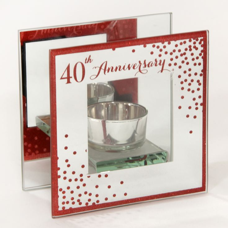 Celebrations Sparkle Tealight Holder - 40th Anniversary product image