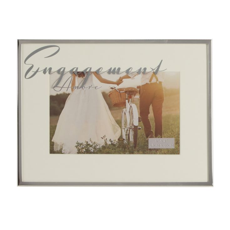 "6"" x 4"" - AMORE BY JULIANA® Silver Plated Frame - Engagement product image"