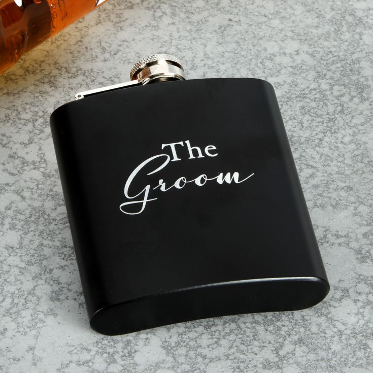 AMORE BY JULIANA® 6oz Hip Flask - The Groom product image