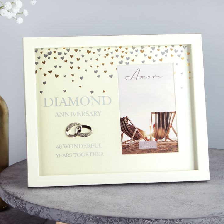 "4"" x 6"" - AMORE BY JULIANA® Frame - Diamond Anniversary product image"
