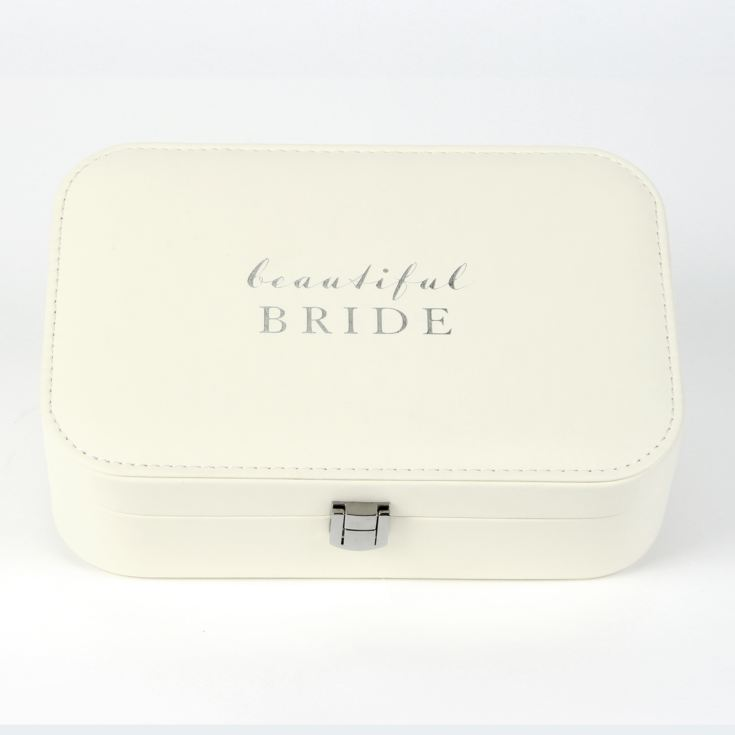 Amore Ivory Leatherette Jewellery Box - Beautiful Bride product image