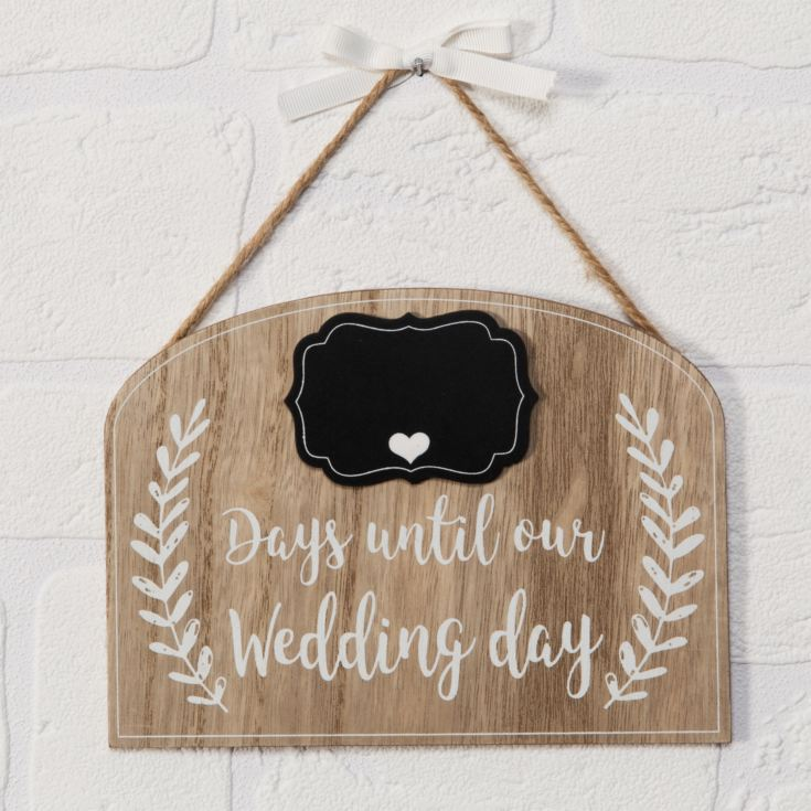 Love Story Countdown to Our Wedding Plaque product image