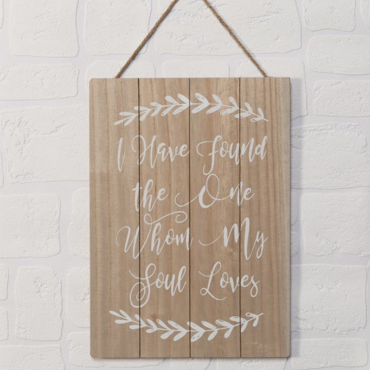 Love Story I Have Found The One Large Plaque product image