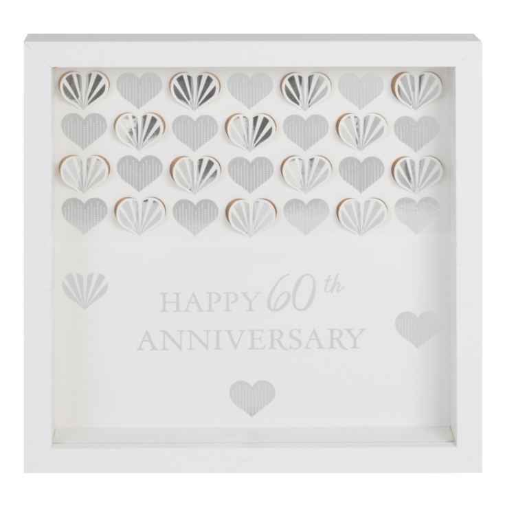Celebrations White Framed Wall Plaque - 60th Anniversary product image