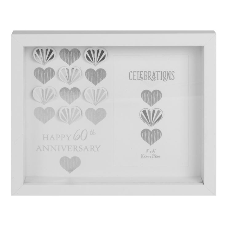 "4"" x 6"" - Celebrations White Wall Frame - 60th Anniversary product image"