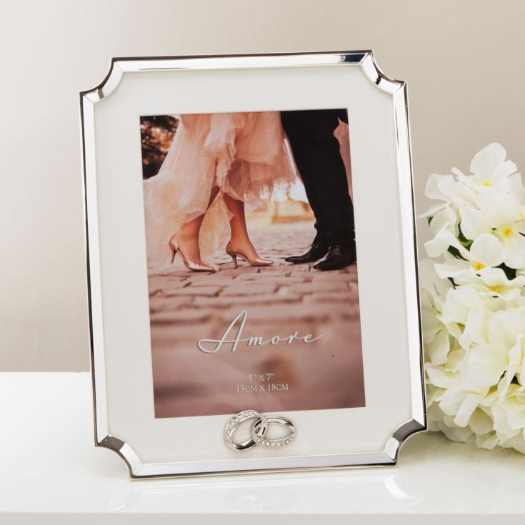 "5"" x 7"" - AMORE BY JULIANA® Silver Scalloped Corner Frame product image"