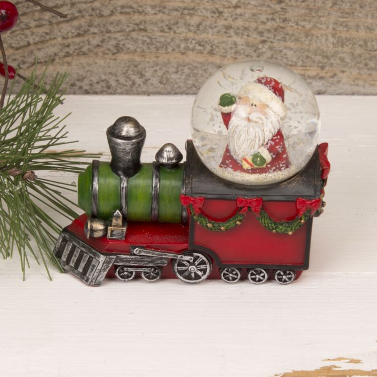Resin Snowglobe - Santa Claus on a Train product image