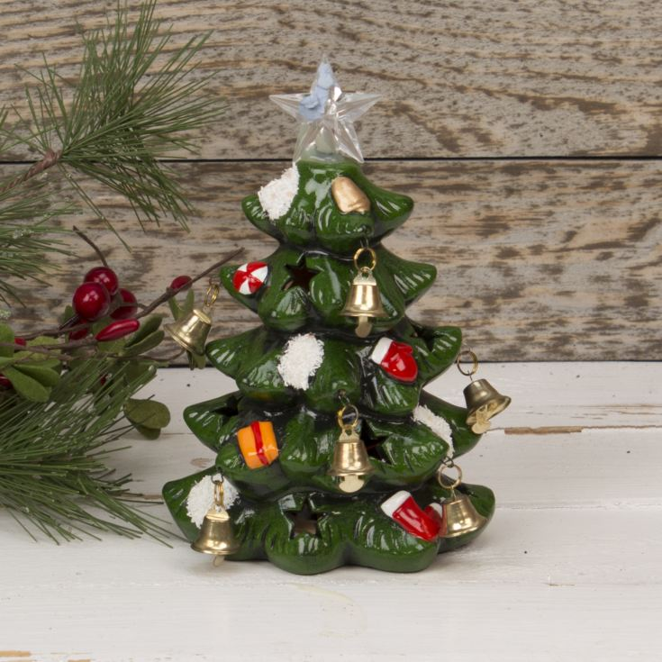 Hand Painted Resin Light Up Christmas Tree 17cm product image