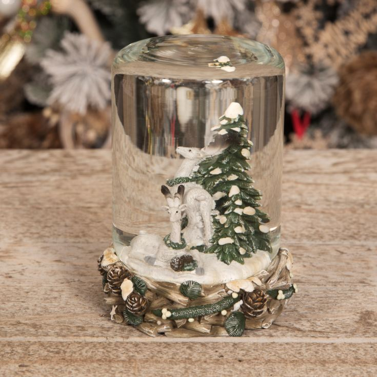Hand Painted Resin Snowglobe - Reindeer 14.5cm product image
