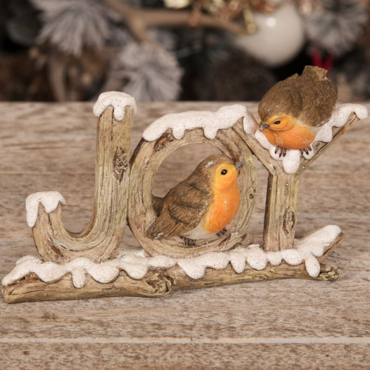 Hand Painted Resin Two Robins Figurine - Joys product image
