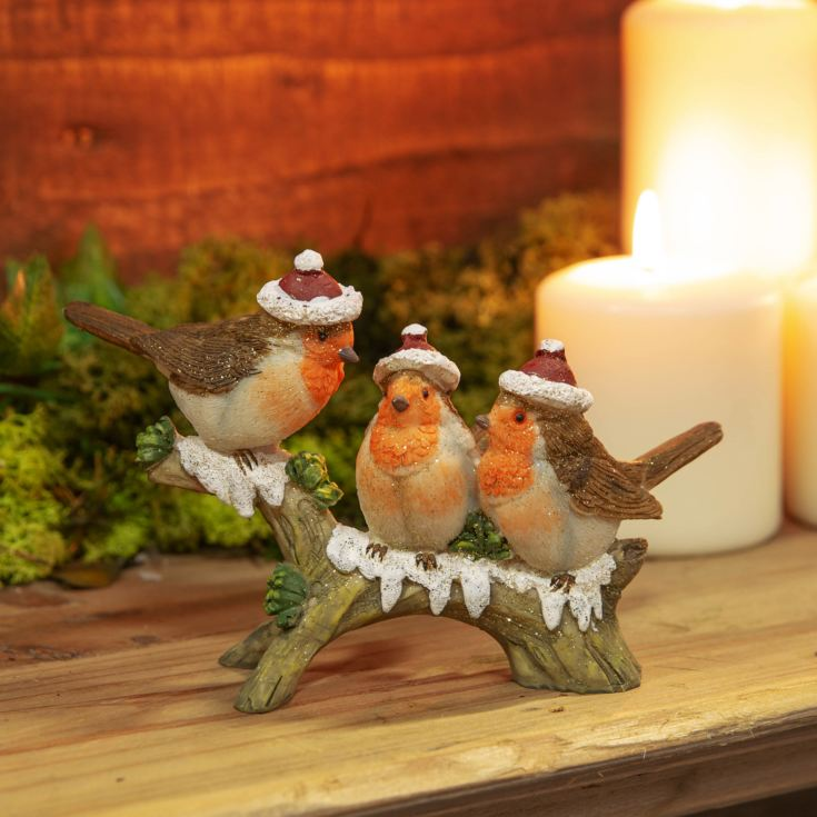 Three Robins on a Branch Figurine product image