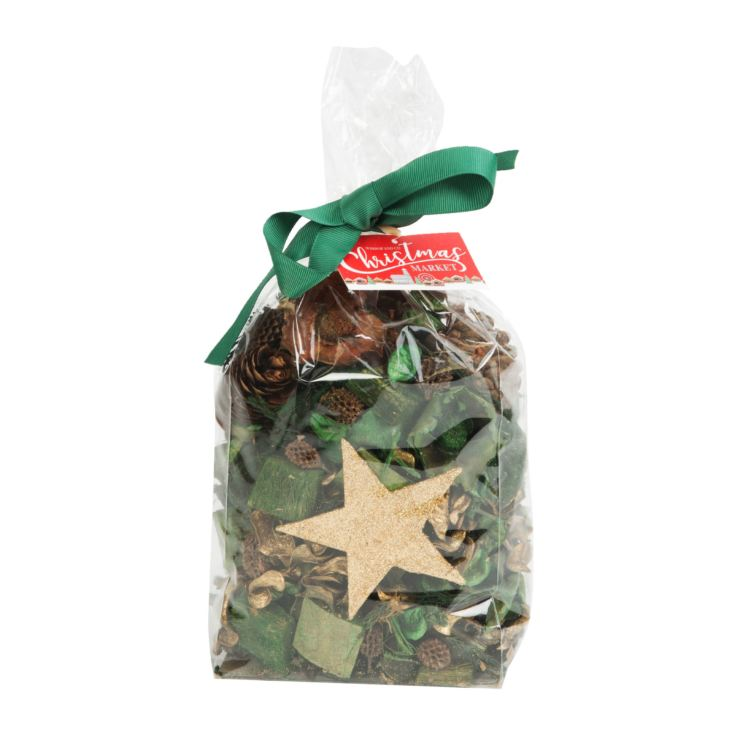 Christmas Cone Bag with Pot Pourri Gold Bow product image