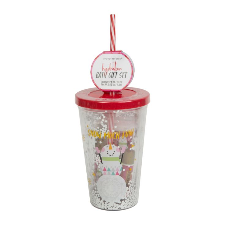 Snow Much Fun Red Insulated Cup & Straw Bath Set product image