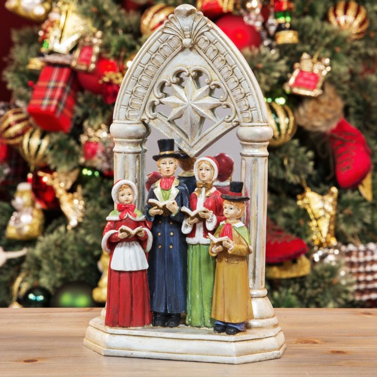 Carollers by Church Window Ornament 30cm product image
