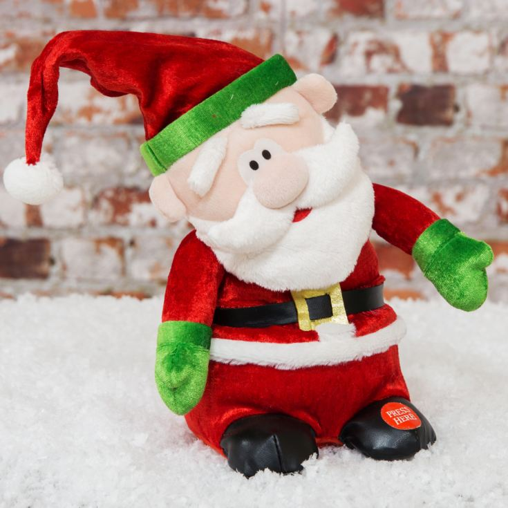 "Musical Singing Swinging Santa Claus 9"" product image"
