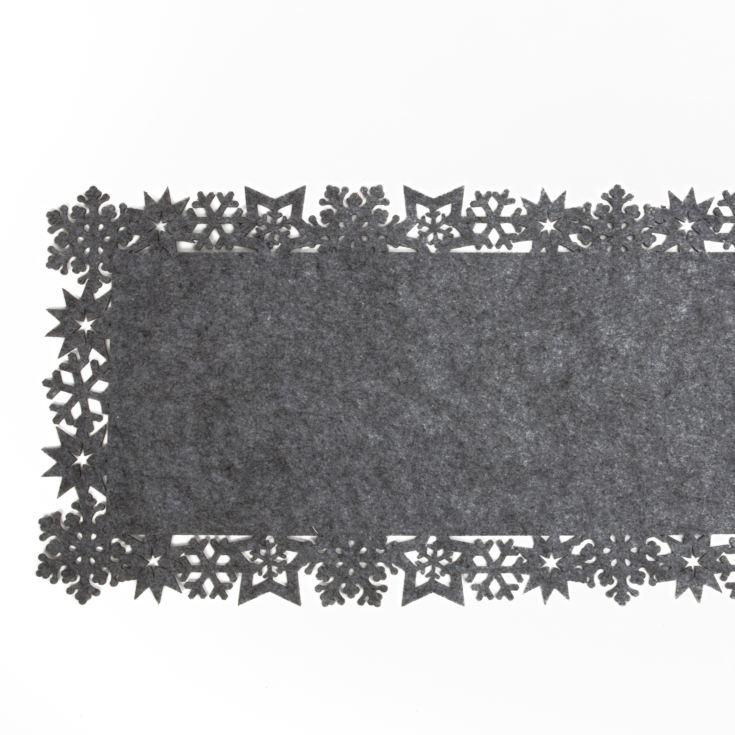 Grey Felt Snowflake Table Runner 1.5m product image