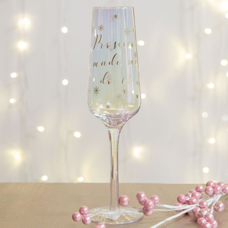 Prosecco Made Me Do It Glass product image