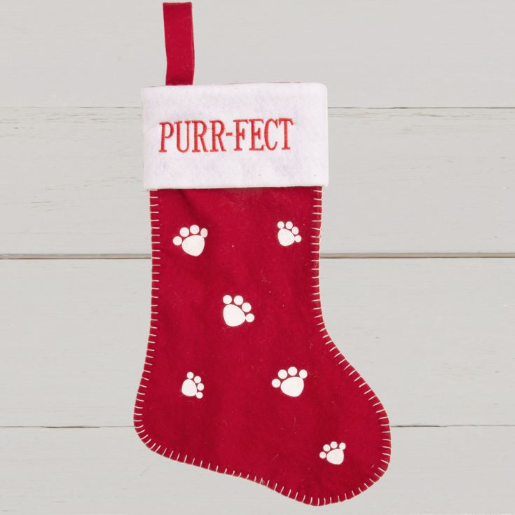 Red & White Cat Stocking - Purfect product image