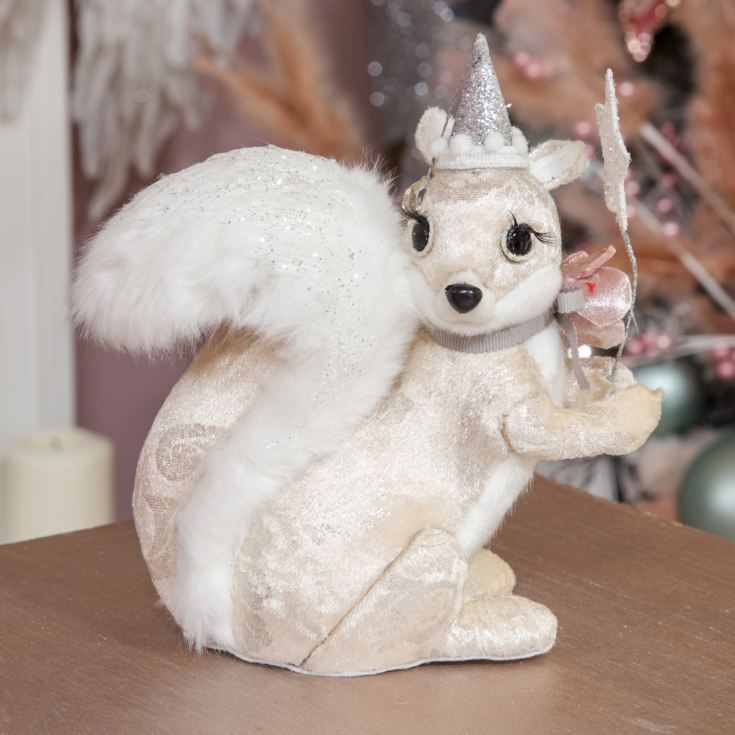 Pearl Velvet Squirrel, Witch's Hat and Wand Decoration product image